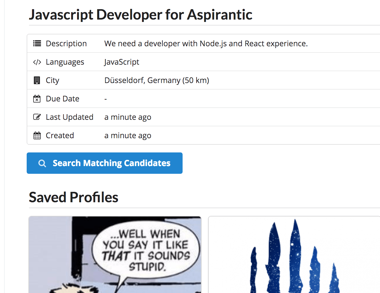 Aspirantic Profiles